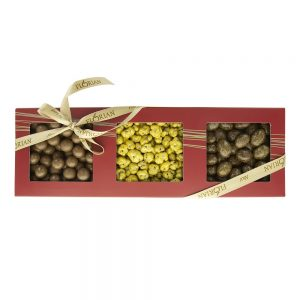 Coffret Gourmand Trio croquant, spécialités de chocolats