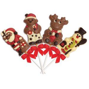 Sucettes de Noël en Chocolat Lot de 4